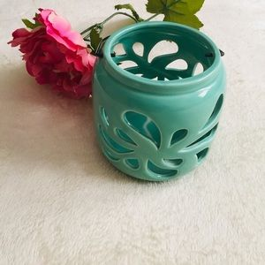 Ceramic Cut Out Candle Holder.